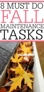 Must Do Fall Maintenance Tasks