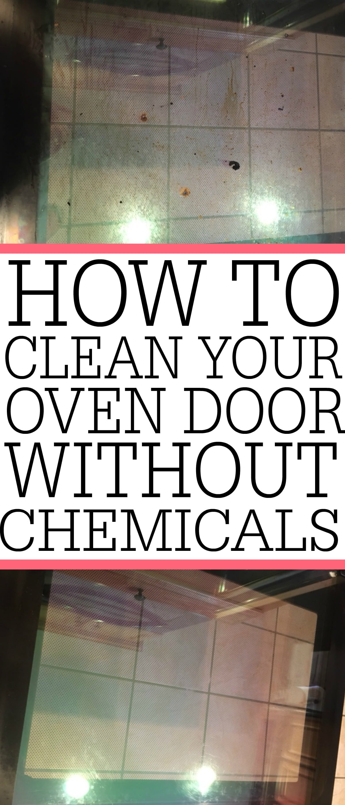 How to clean your oven glass without chemicals frugally blonde check out this easy way of how to clean your oven glass eventelaan Gallery