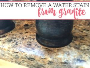 How To Remove A Water Stain On Granite