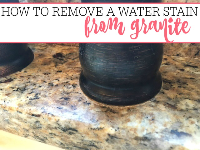 How To Remove A Water Stain On Granite Frugally Blonde