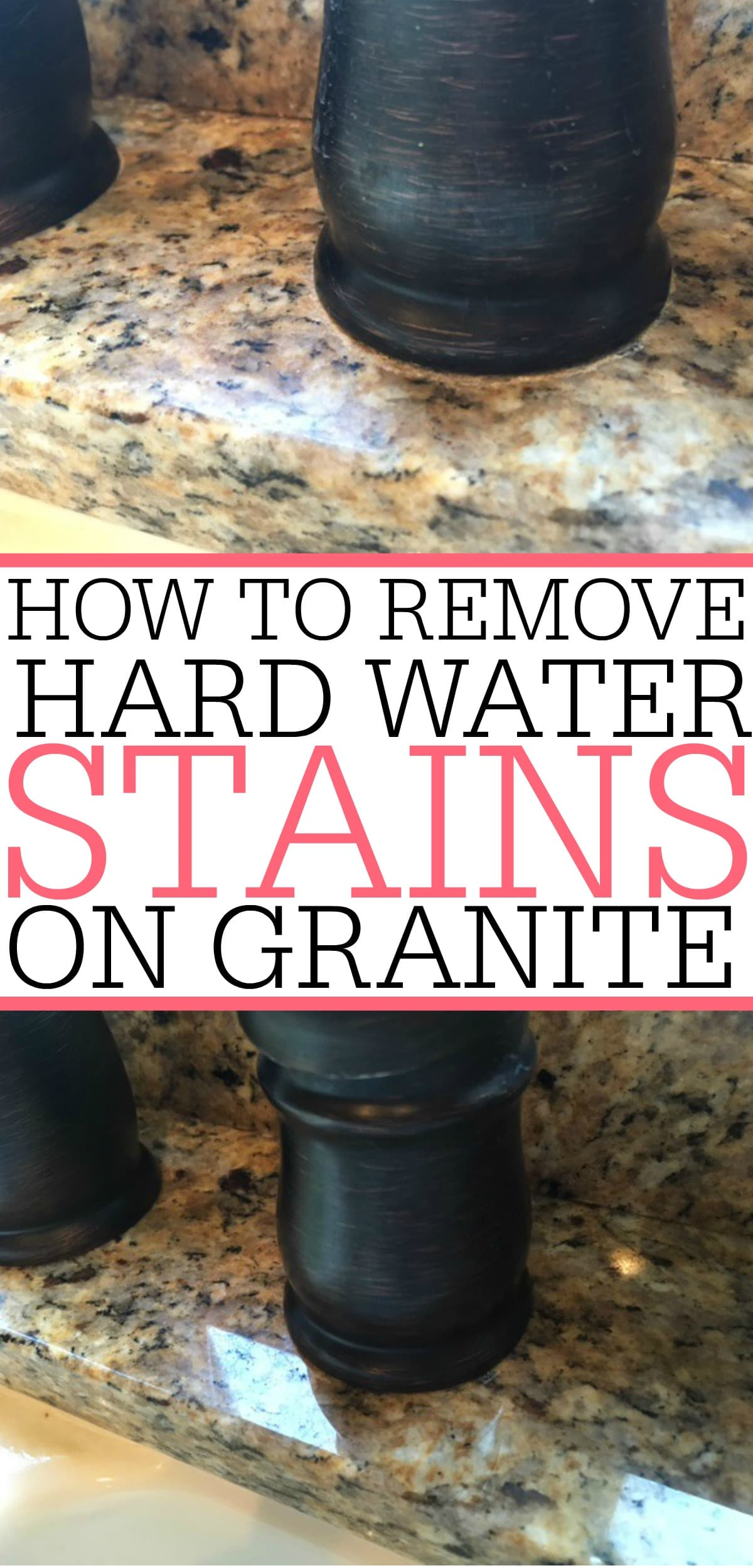 Dealing with a water stain on granite? No problem! It's easy removing water stains from granite with this simple tip! Water stains will be gone in no time.