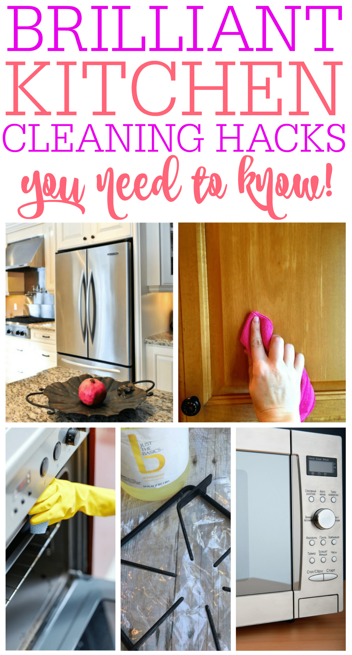 Brilliant Kitchen Cleaning Hacks You Need To Know - Frugally Blonde