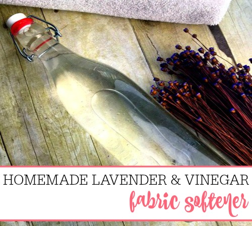 Easy Lavender and Vinegar Fabric Softener