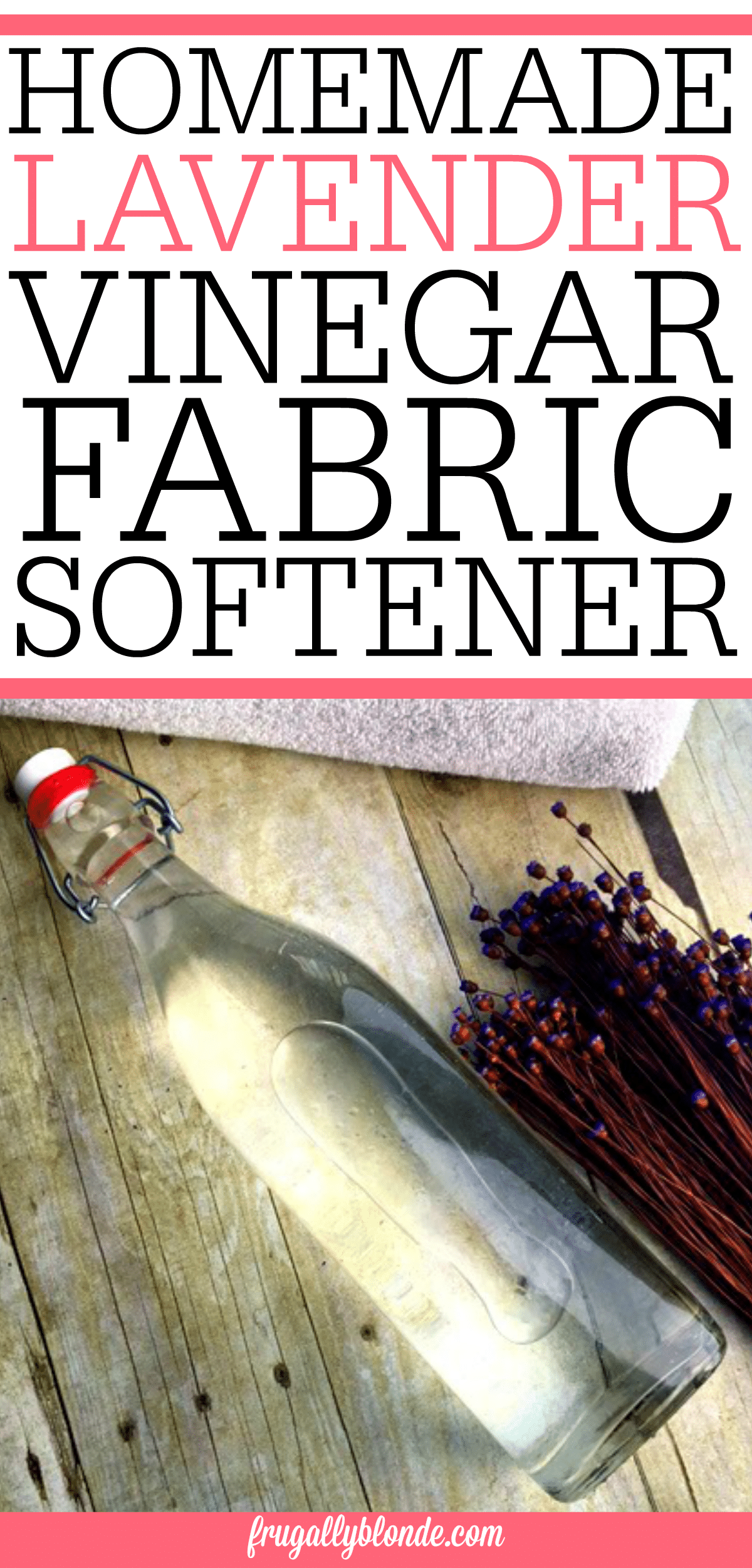 Want soft clothes without all the gross chemicals? Try this AMAZING homemade lavender and vinegar fabric softener. This homemade fabric softener works great!
