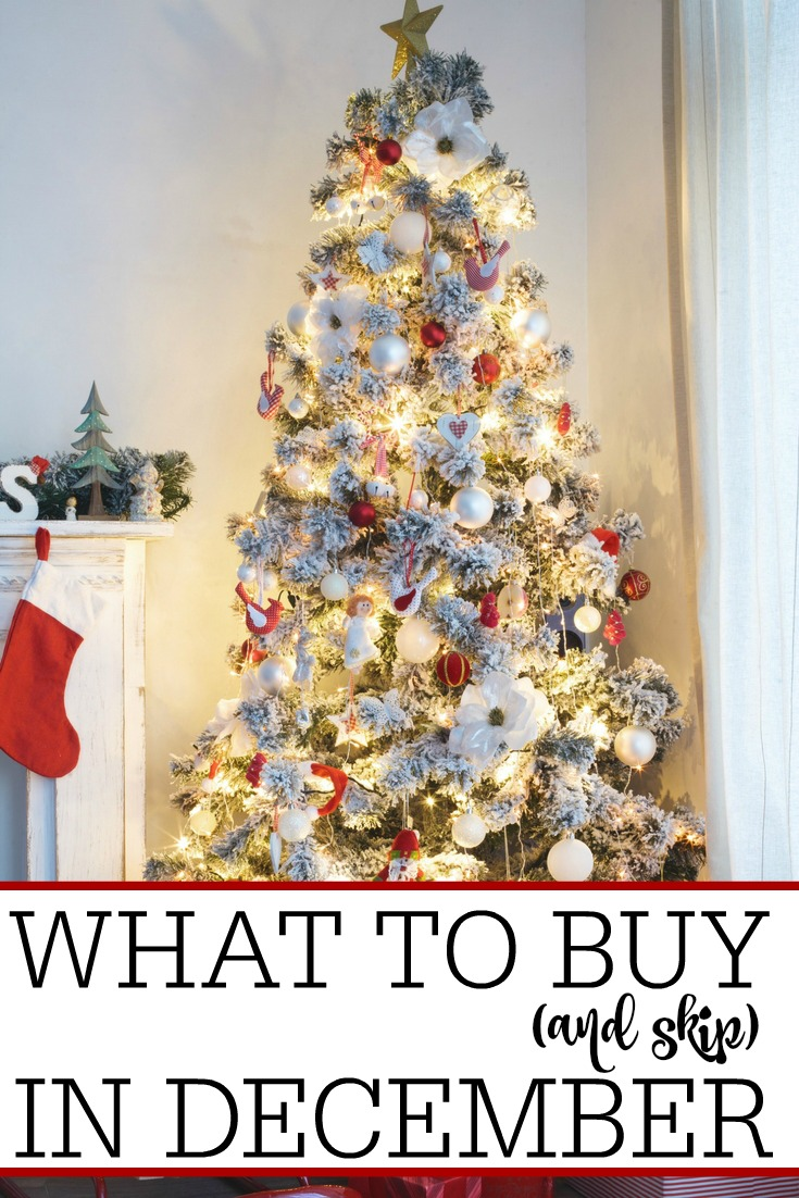 Trying to save more money? Check out what to buy (and skip) in December to really stretch your dollar and get the most bang for your buck!