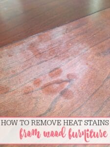 How To Remove Heat Stains From Wood
