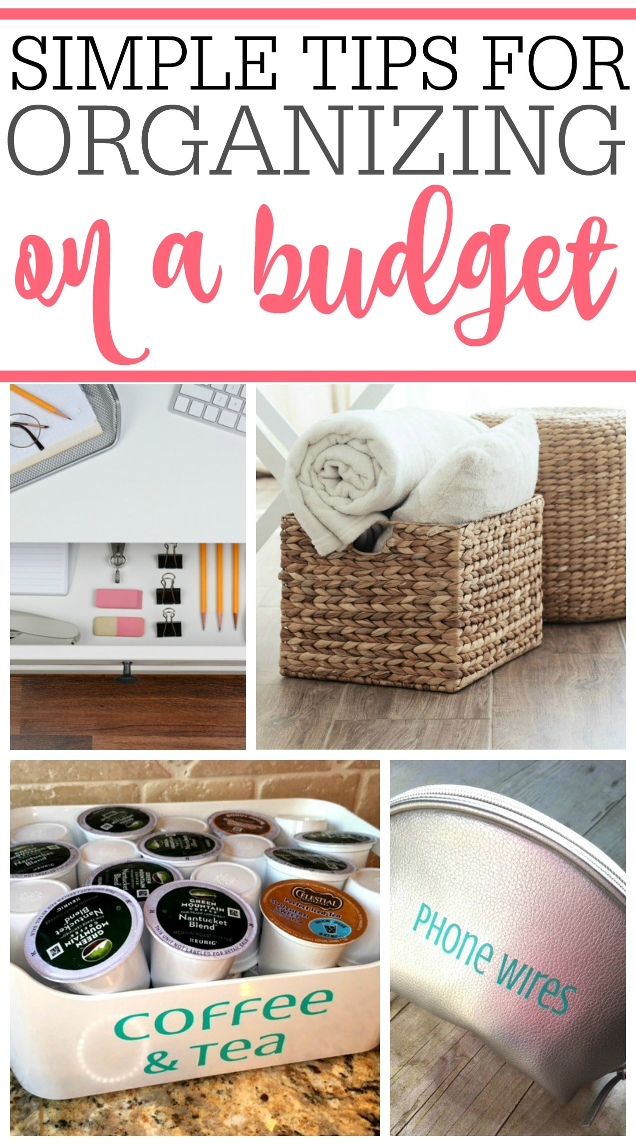 You don't need the expensive organizers. Check out these simple tips for organizing on a budget. You can organize on a budget that works for you.