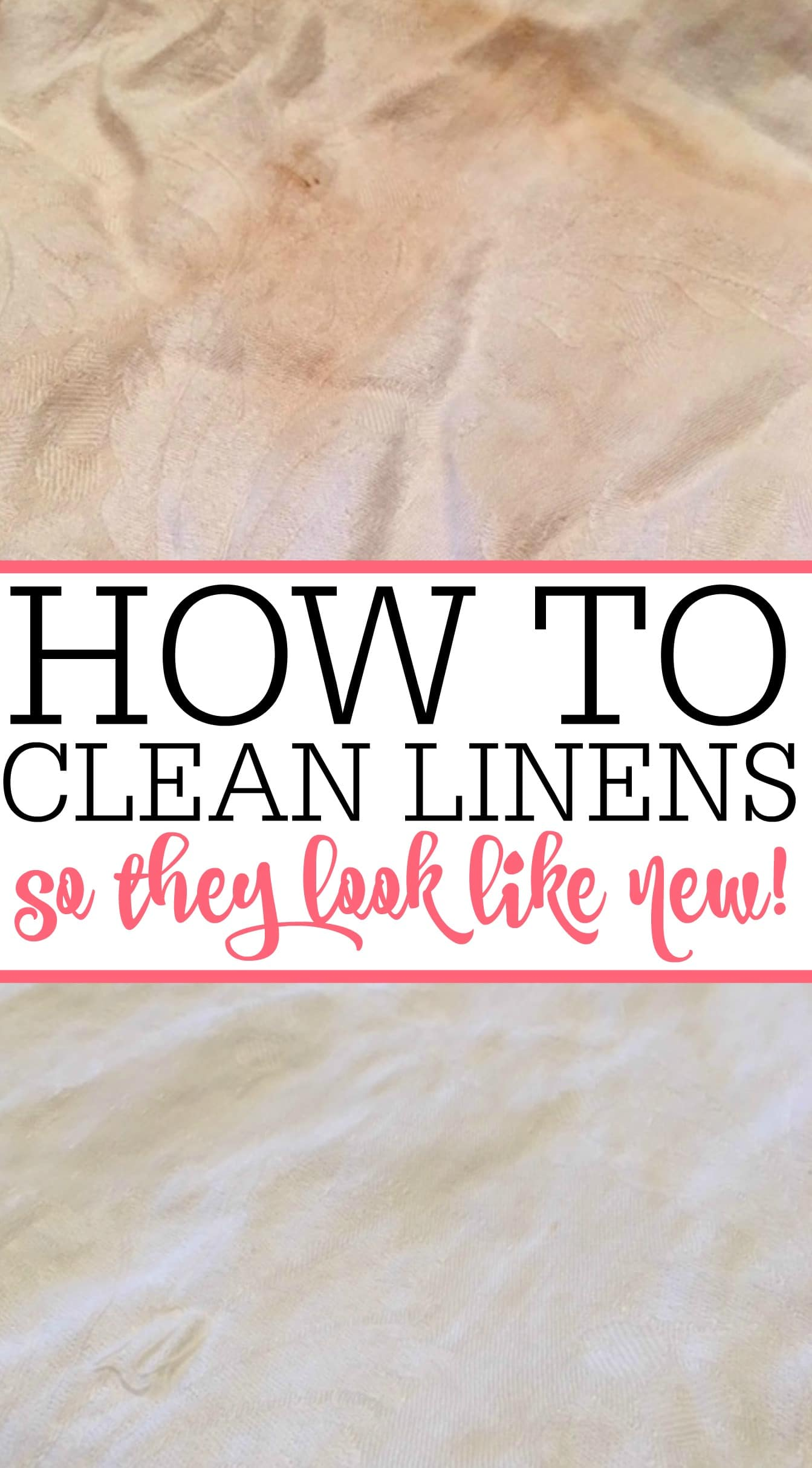 Need help with cleaning linens? Get those yellowed linens clean again. Check out cleaning linens so they look like new again.