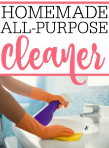 Homemade All-Purpose Cleaner - Frugally Blonde