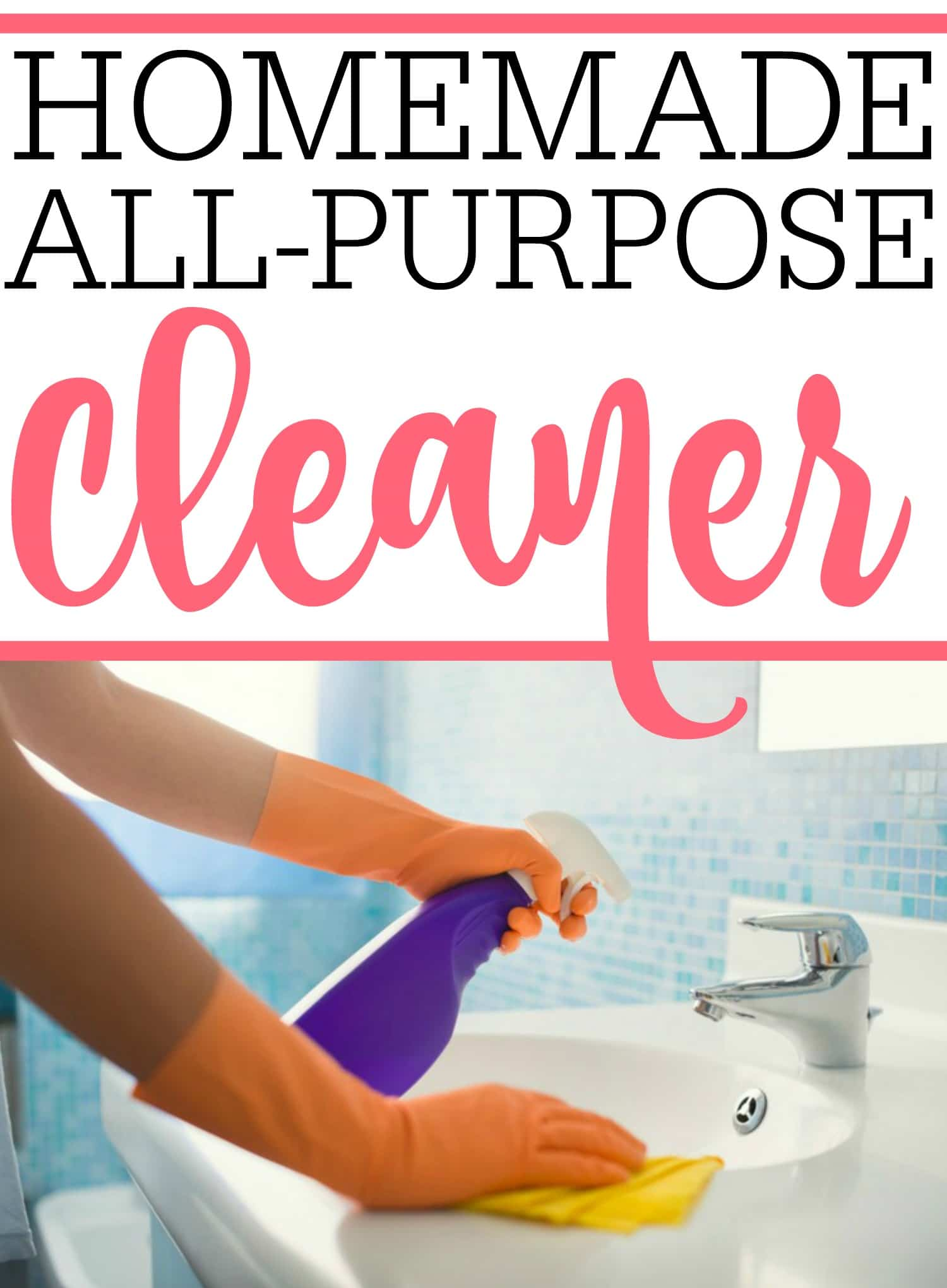 Looking for the perfect homemade all-purpose cleaner? This easy DIY all-purpose cleaner only takes minutes to make. Plus, you probably already have the ingredients at home to make it.