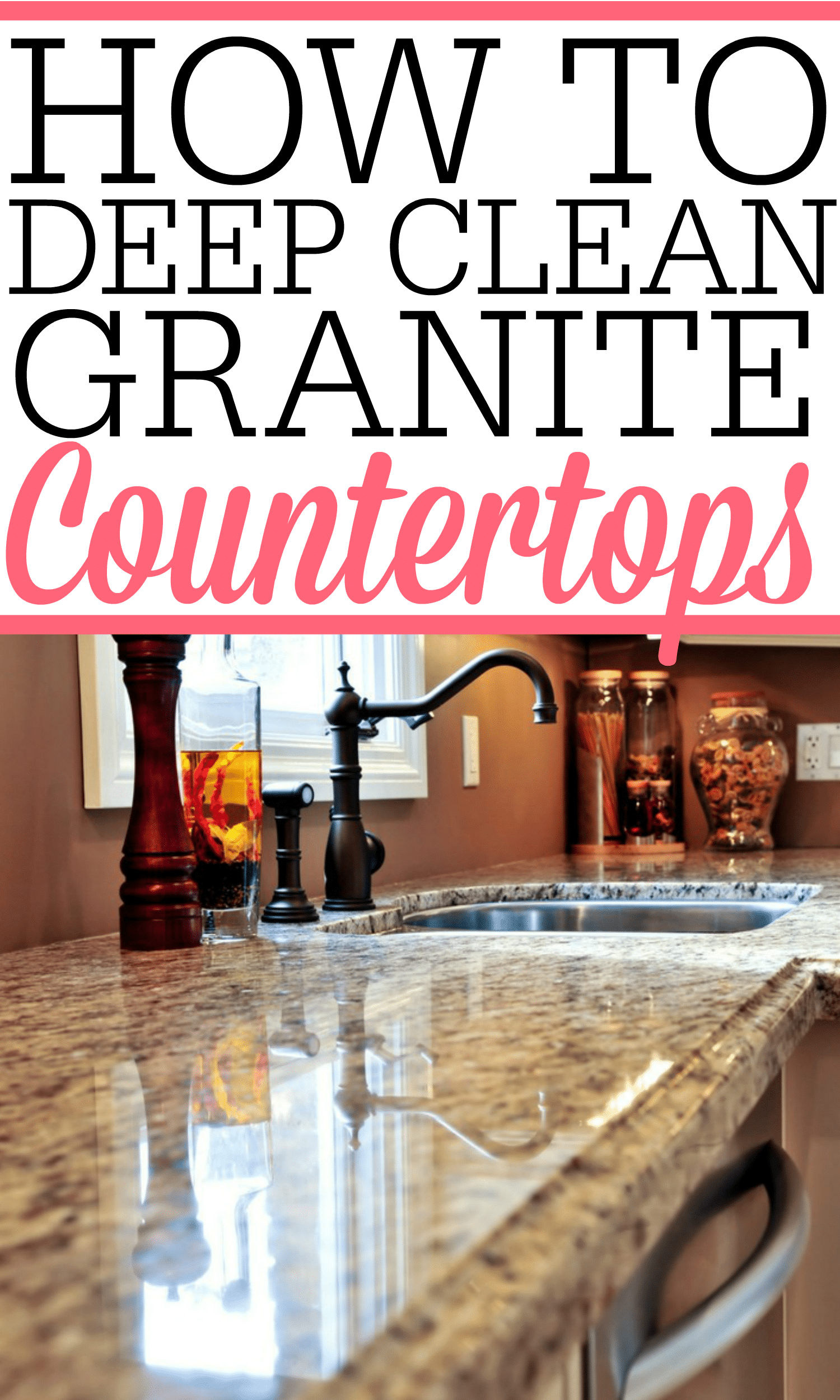 How To Deep Clean Granite Countertops - Frugally Blonde