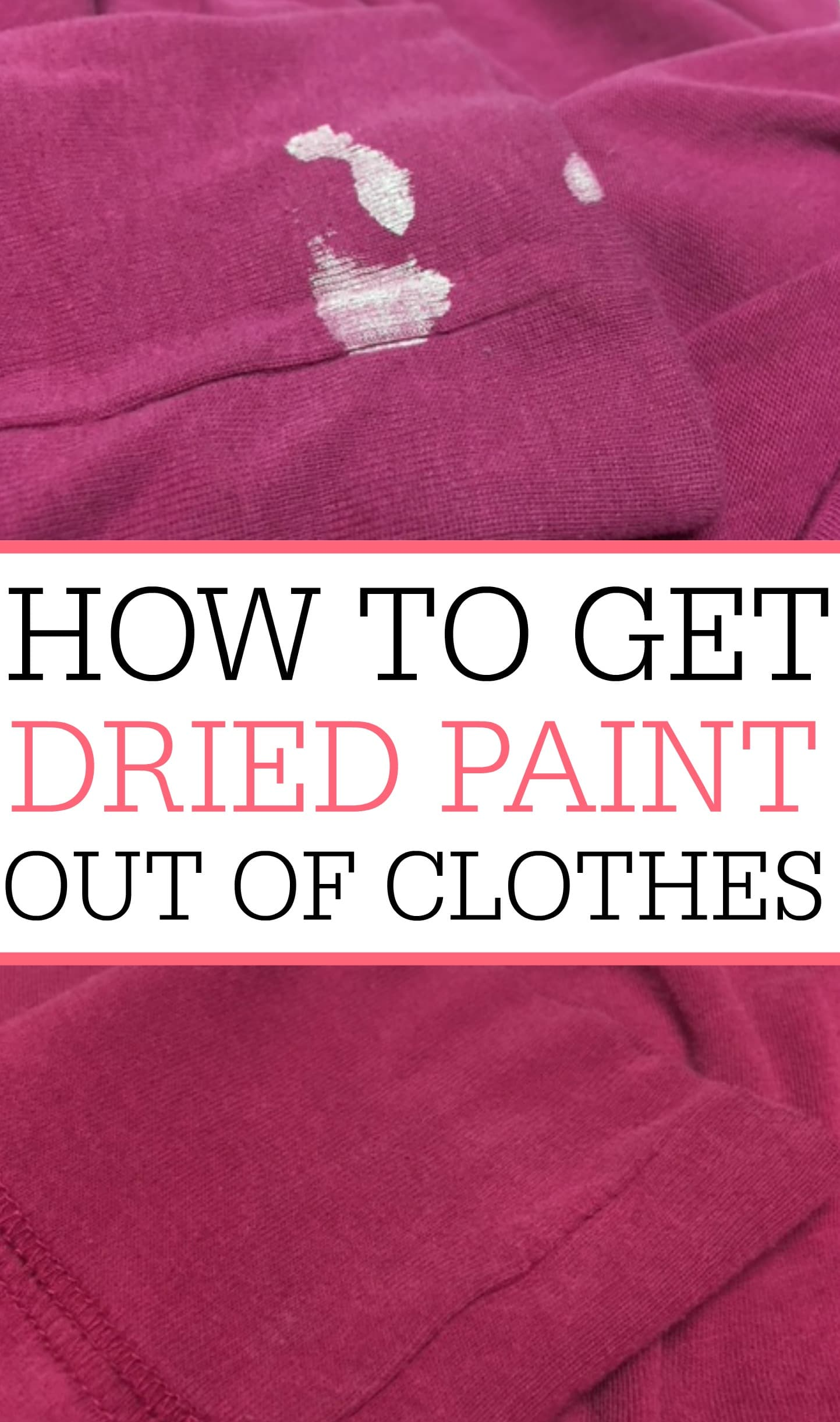 how to get dry paint off clothes