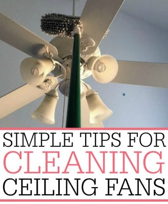 Simple tips for cleaning ceiling fans frugally blonde ceiling fans too save aloadofball Image collections