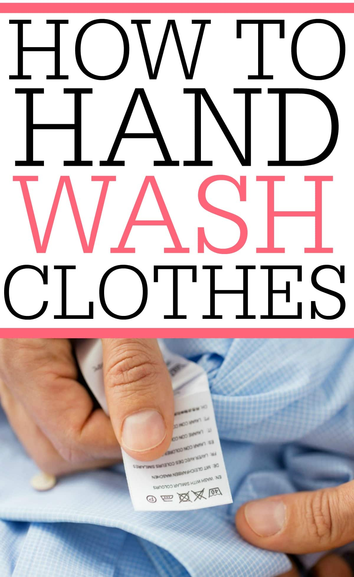 Don't skip buying that sweater. Learn how to hand wash clothes at home. It's simple to do and washing clothes by hand doesn't take all day.