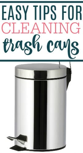 cleaning trash cans