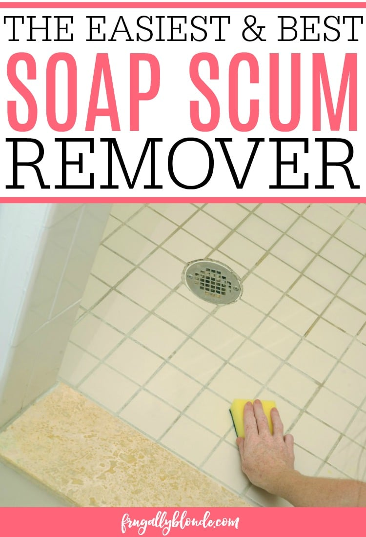 Dealing with soap scum in your shower or bath? Easily clean the shower with the best soap scum remover. This DIY soap scum remover easily removes the soap scum with little to no scrubbing. This soap scum remover works on tubs, tile, and showers.