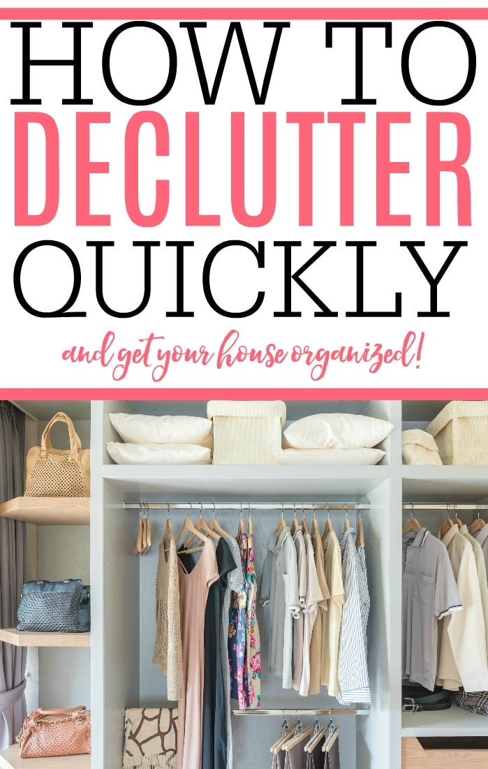 Get your home organized and clutter free quickly. Check out these fantastic tips on how to declutter fast. Your house will look and feel cleaner.