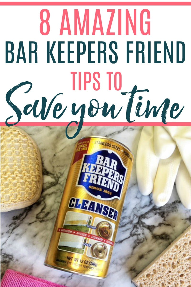 Want to save time and still have a clean house? Check out these bar keepers friend uses that will save you time. Spend less time cleaning and more time relaxing with these amazing uses for bar keepers friend.
