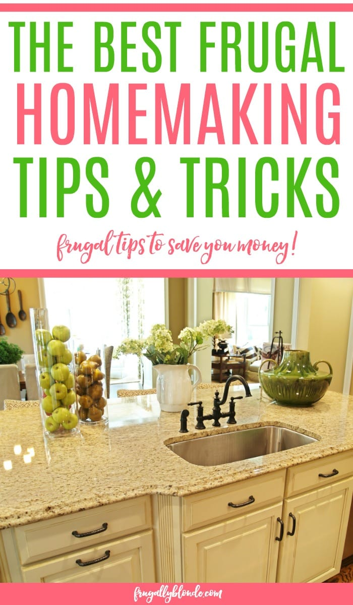 Trying to save more money? Check out these frugal homemaking tips to help you live a frugal life without sacrificing. Get the best frugal tips and life hacks.
