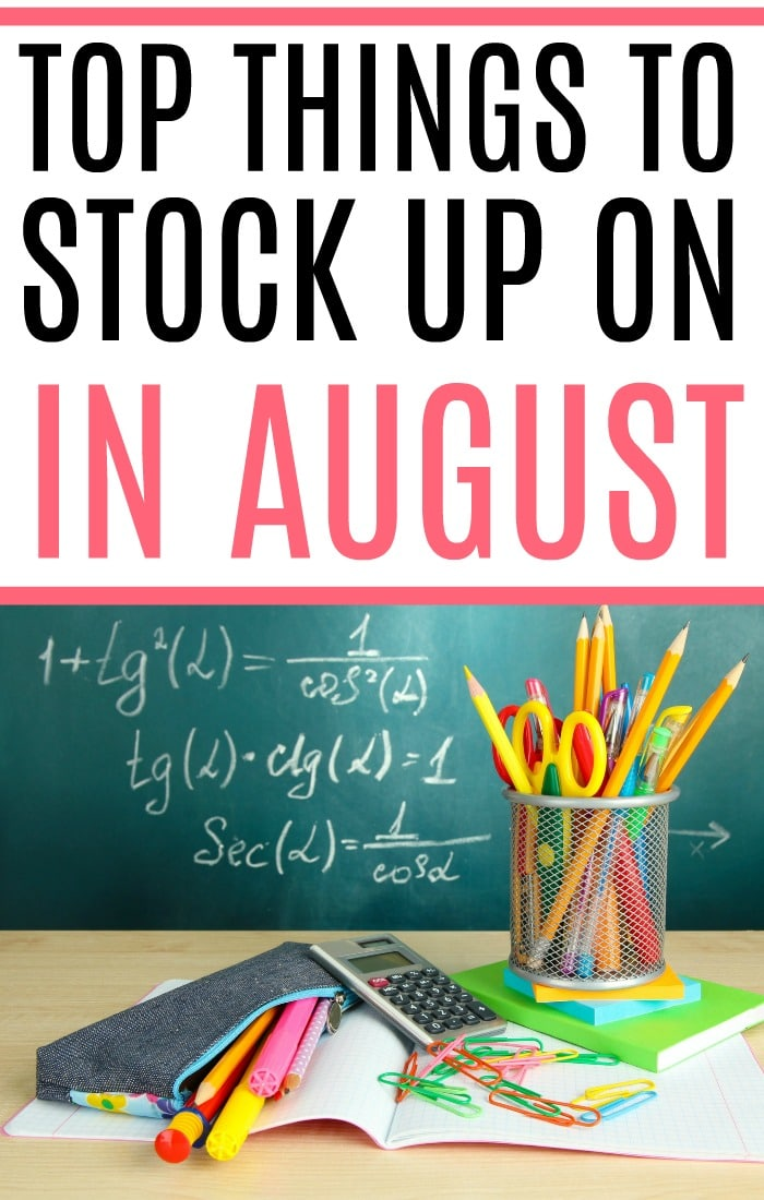 Trying to save more money? Check out the top things to stock up on in August to really save. It's an easy way to save more money without much work.
