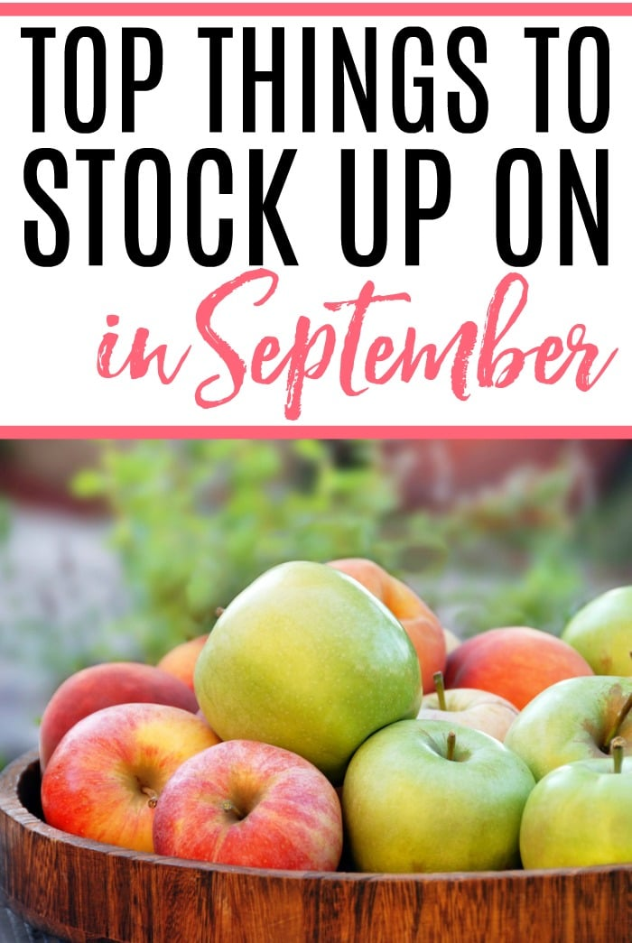 Want to save more money? Check out the top things to stock up on in September and save all year long. It's an easy way to save more money without much work.