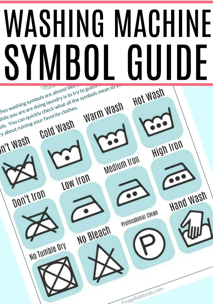 Trying to figure out what those symbols mean? Check out this quick and easy washing machine symbols guide to get your clothes clean.