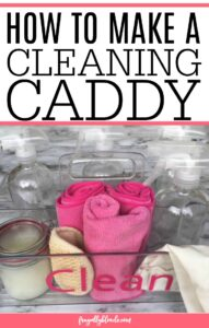 Simple Tips For Creating A Cleaning Caddy