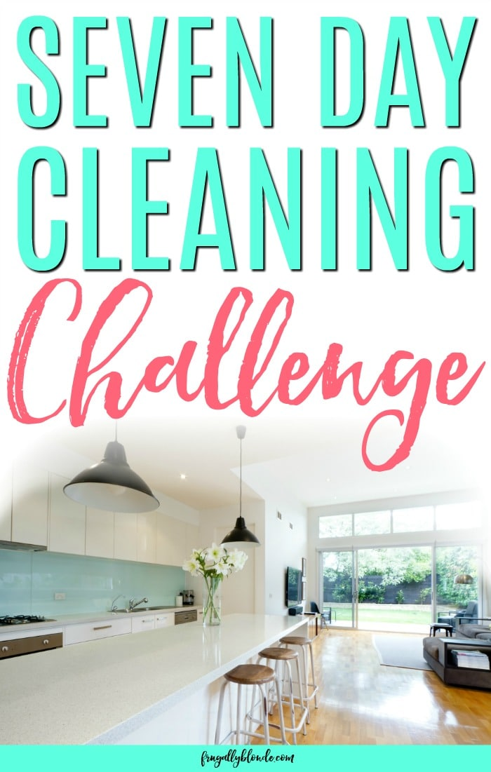 Do you feel like you don't know how to keep your house clean? Would you like to get your house clean for the holidays? Learn how to get your house clean in just 15-30 minutes a day with the 7 day cleaning challenge.