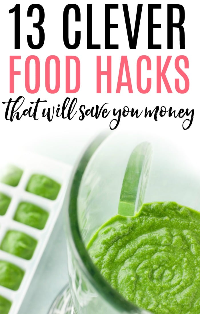 Save money in the kitchen with these clever food hacks. Don't let your food go to waste. These genius food hacks will save you money!