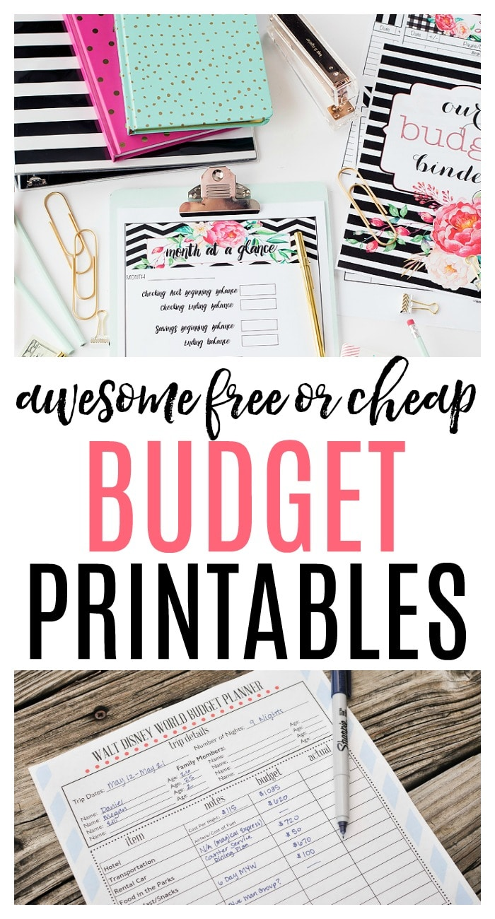 Want to get your finances in order? Check out these awesome budget printables! Get some free budget printables for monthly or weekly budgeting.