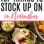 stock up on in november
