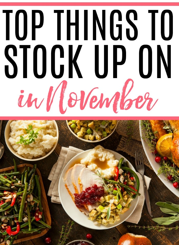 Want to save more money? Check out the top things to stock up on in November and save all year long. It's an easy way to save more money without much work.