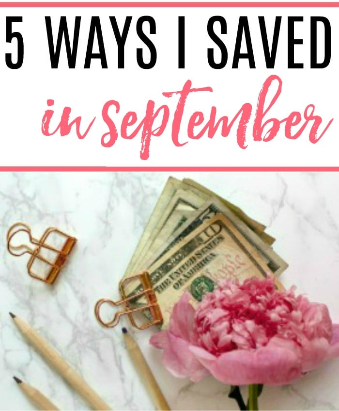 Want to save more money each month? Check out the 5 ways I saved in September for some inspiration to save some extra money. Saving money can be easy and fun.