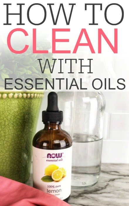 clean with essential oils