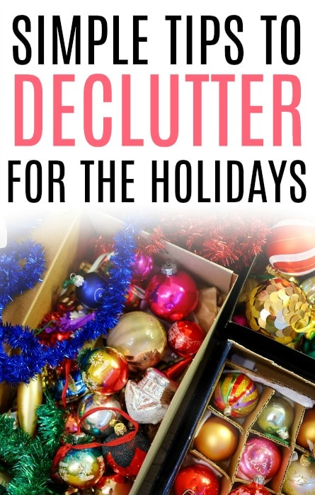 declutter for holidays