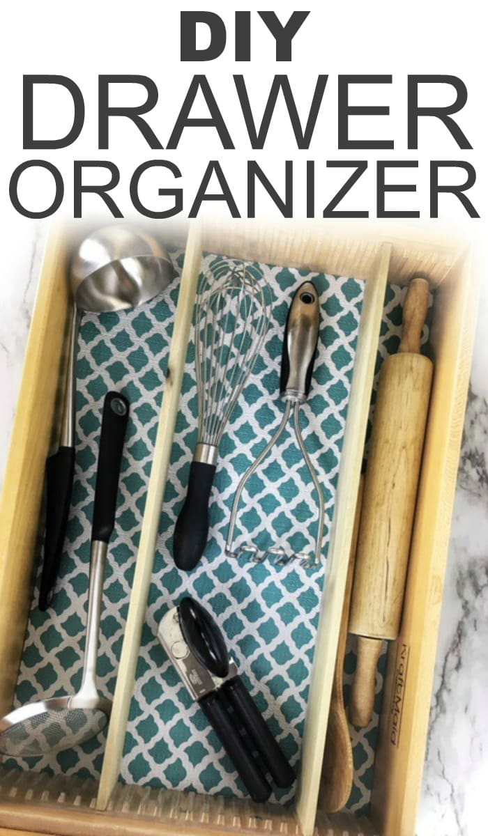 Tired of messy drawers? Check out this easy to make DIY drawer organizer. It helps you quickly and easily organize your drawers.