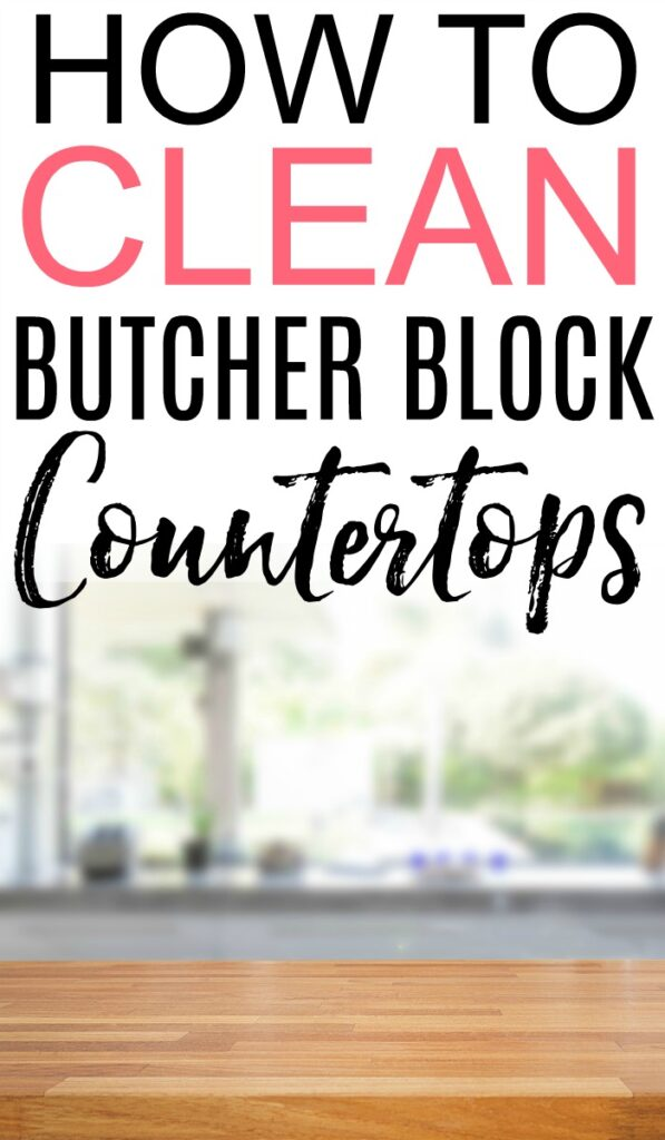 how to clean butcher block countertops