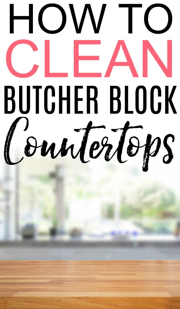 Do you have butcher block countertops? See the best way to clean and disinfect counters. Check out these tips on how to clean butcher block countertops.