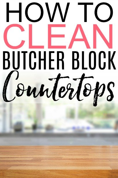how to clean butcher block