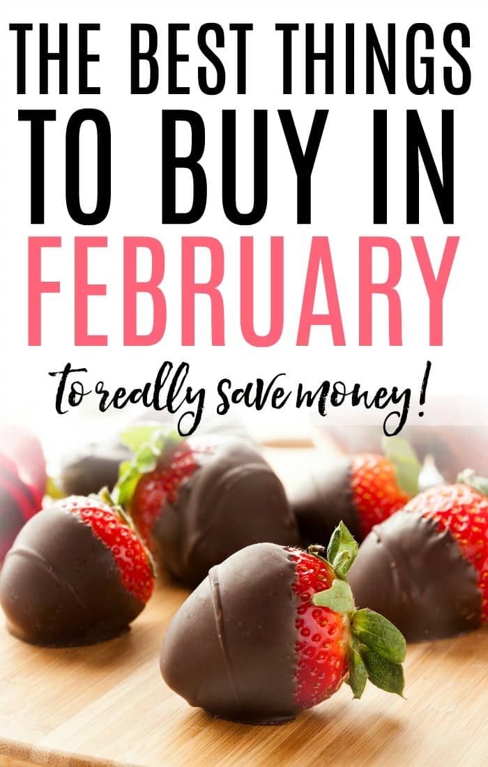 Trying to save more money? Check out the best things to buy in February to really save. It's an easy way to save more money without much work.