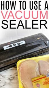 how to vacuum seal food