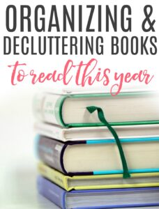 organizing and decluttering books