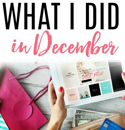 what i did in december