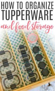 how to organize food storage