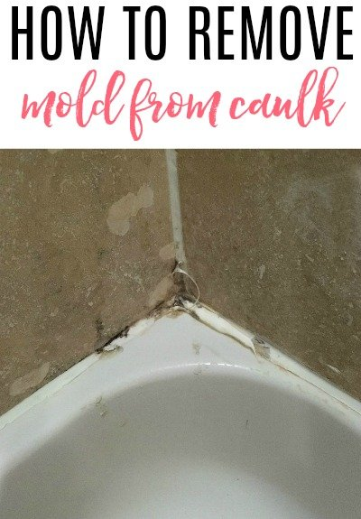 remove mold from caulk