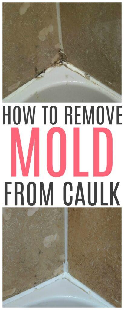 remove mold from shower caulk