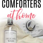 how to clean a down comforter at home
