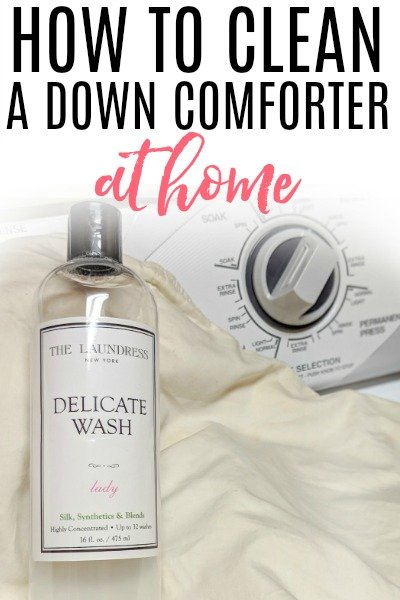 how to clean a down comforter