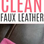 clean faux leather