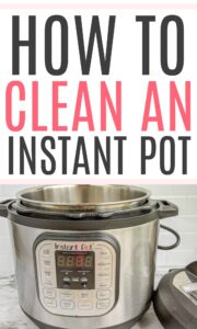 how to clean an instant pot